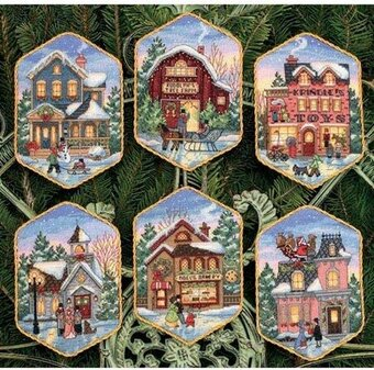 Christmas Village Ornaments - Cross Stitch Kit