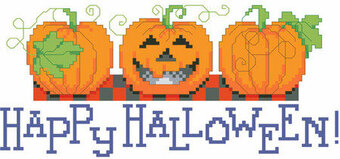 Halloween Pumpkins - Cross Stitch Pattern