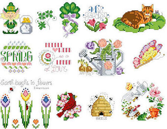 Spring Collection - Cross Stitch Pattern