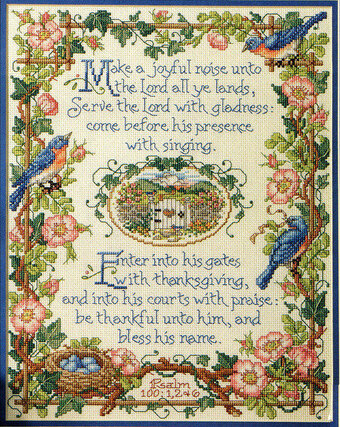 Psalm 100 - Cross Stitch Pattern