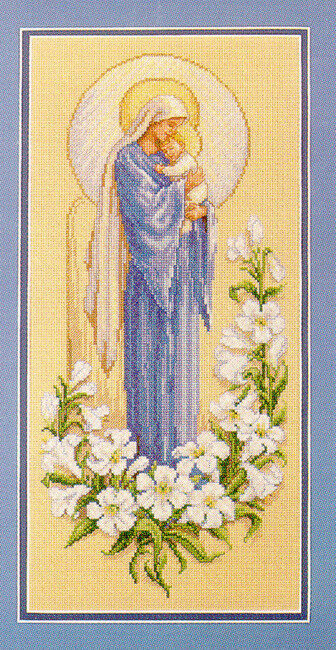 Madonna and Child - Christian Cross Stitch Pattern
