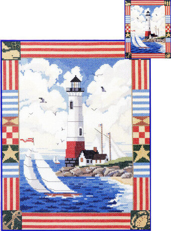 American Lighthouse - Cross Stitch Pattern