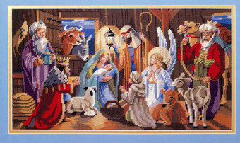 Nativity Picture - Christmas Cross Stitch Pattern