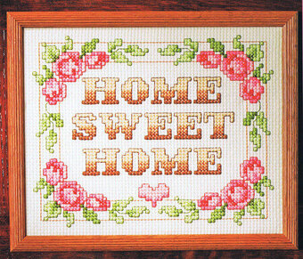 Home Sweet Home Big Stitch - Cross Stitch Pattern