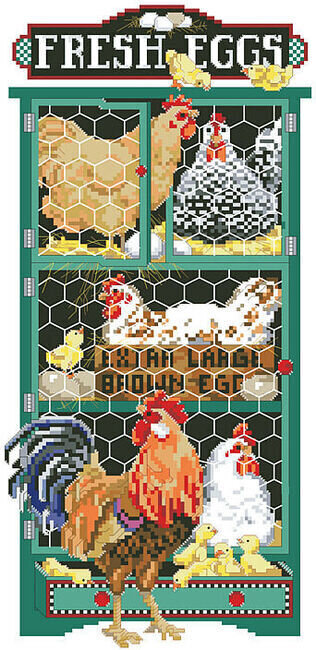 Ruffled Feathers - Cross Stitch Pattern