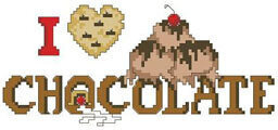 I Love Chocolate - Cross Stitch Pattern