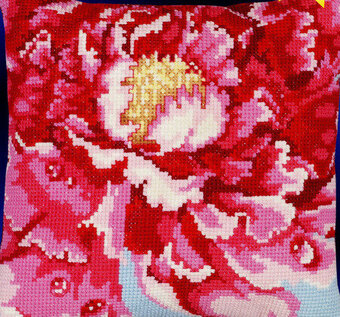 Tree Peony Big Stitch - Cross Stitch Pattern