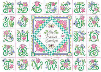 In the Garden Alphabet Sampler - Cross Stitch Pattern