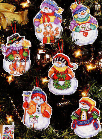 Snow Folks Christmas Ornaments - Cross Stitch Pattern