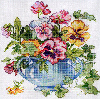 Pansies - Cross Stitch Pattern