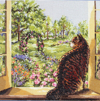 View of the Garden - Cross Stitch Pattern