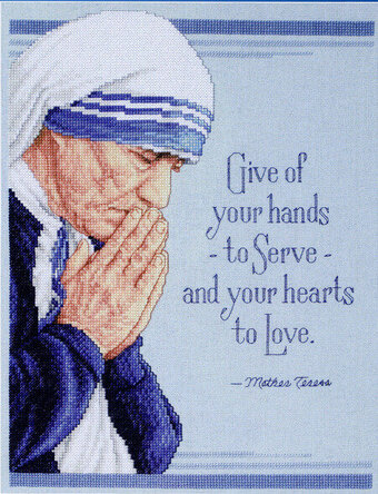 Mother Teresa - Cross Stitch Pattern