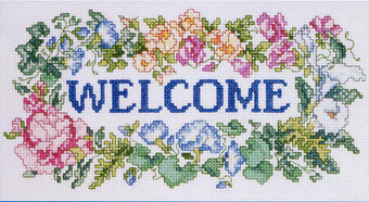 Welcome Bouquet - Cross Stitch Pattern