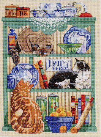 Cats in the Kitchen - Cross Stitch Pattern