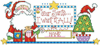Dear Santa I Want It All - Christmas Cross Stitch Pattern