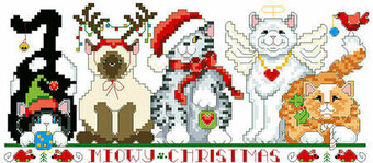 Meowy Christmas - Christmas Cross Stitch Pattern