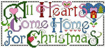 All Hearts Come Home For Christmas - Cross Stitch Pattern