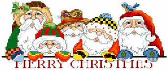 Favorite Santas - Christmas Cross Stitch Pattern