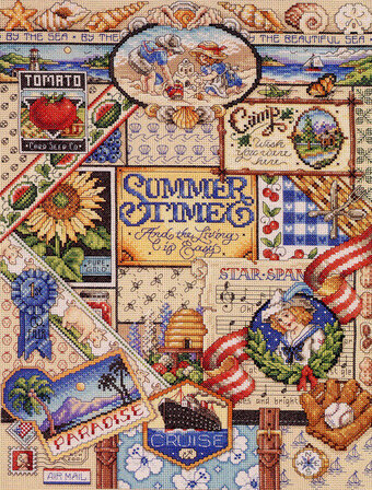 Summer Sampler - Cross Stitch Pattern