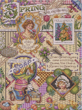 Spring Sampler - Cross Stitch Pattern