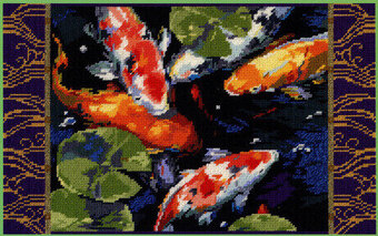Koi Fish - Cross Stitch Pattern