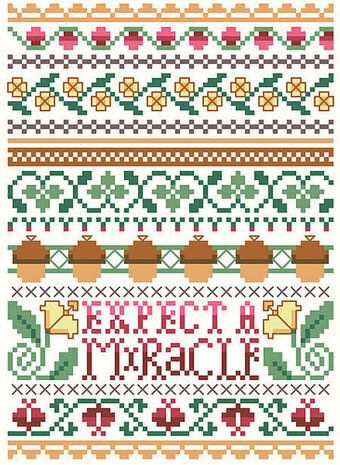 Expect A Miracle - Cross Stitch Pattern