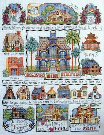 Bless Our Home Sampler - Cross Stitch Pattern