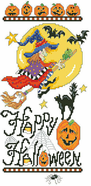 Happy Halloween Sampler - Cross Stitch Pattern