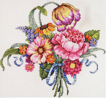 Floral Bouquet - Cross Stitch Pattern