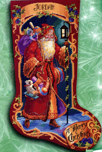 Father Christmas Stocking - Cross Stitch Pattern