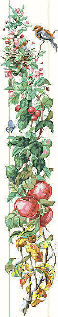 Four Seasons Bell Pull - Cross Stitch Pattern
