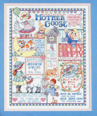 Mother Goose Birth Record - Cross Stitch Pattern