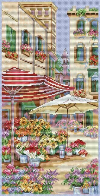 Flower Market - Cross Stitch Pattern