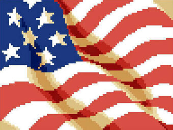 Old Glory Big Stitch - Cross Stitch Pattern