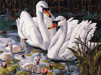 Swan Lake - Cross Stitch Pattern