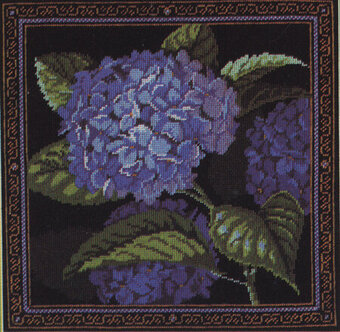 Blue Hydrangea - Cross Stitch Pattern