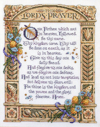 The Lord's Prayer - Cross Stitch Pattern