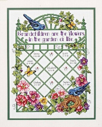 Grandchildren Are Flowers - Cross Stitch Pattern