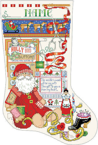 Crafter's Christmas Stocking - Cross Stitch Pattern
