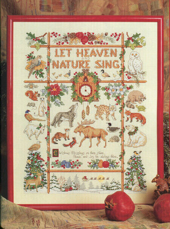 Nature Christmas Sampler - Cross Stitch Pattern
