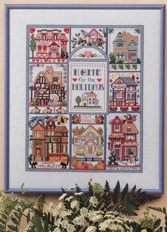 Home For The Holidays Seasonal Sampler - Cross Stitch