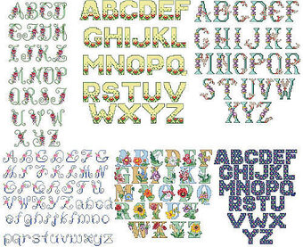 Floral Alphabets - Cross Stitch Pattern
