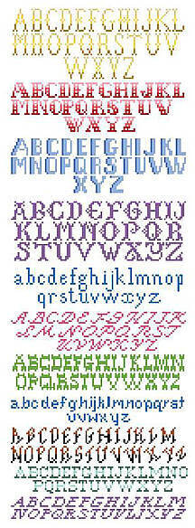 Cross Stitch Alphabets - Cross Stitch Pattern