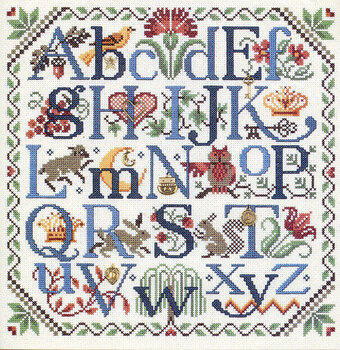 Nature's Alphabet - Cross Stitch Pattern