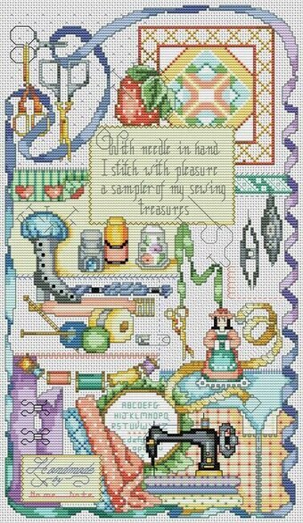 Stitcher's Sampler - Cross Stitch Pattern
