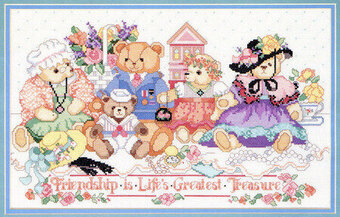 Friendship Bears - Cross Stitch Pattern