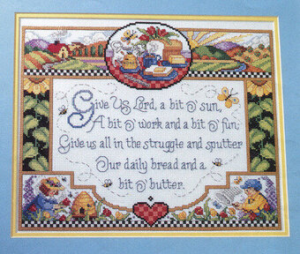 Give Us Lord - Cross Stitch Pattern
