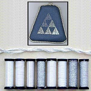 Metallic Thread Gift Collection - Anniversary (Silver)