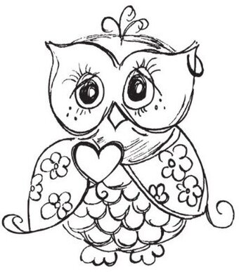 Owl - Clear Stamp