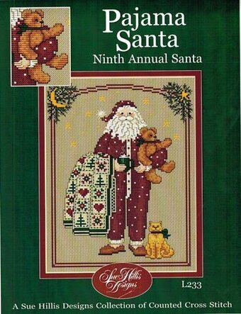 Pajama Santa - Cross Stitch Pattern